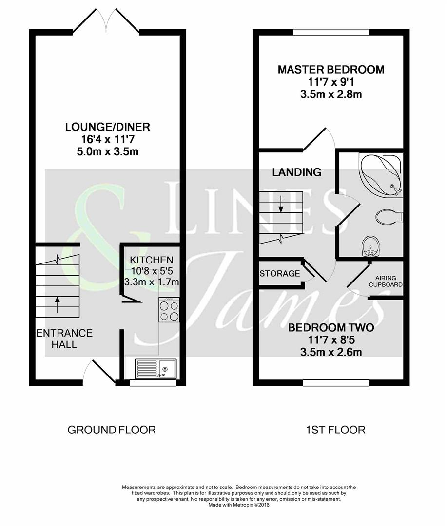 Floorplan for Shelley Drive, Horsham